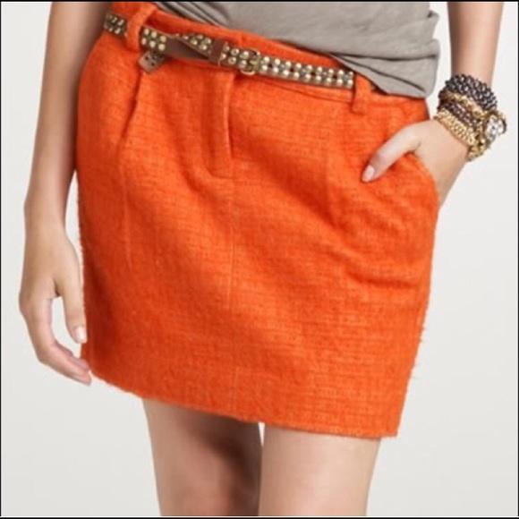 J. Crew Dresses & Skirts - Jcrew orange mini skirt